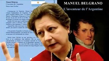 "Denise Anne Clavilier en ""Veladas para la historia"", videoconferencia del Instituto Nacional Belgraniano (agosto 2020)"
