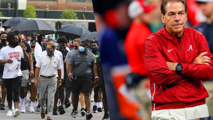 Twitter Fights About Nick Saban After March For Racial Injustice
