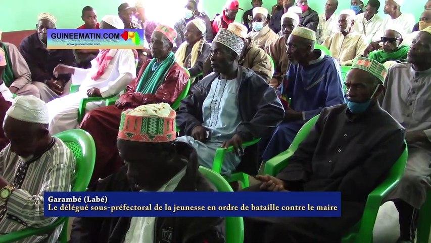 Garambé (Labé), Le délégué sous-préfectoral de la jeunesse en ordre de bataille contre le maire de la commune rurale