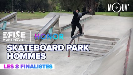 Top 8 Skateboard Park Pro Hommes | E-FISE Montpellier by Honor
