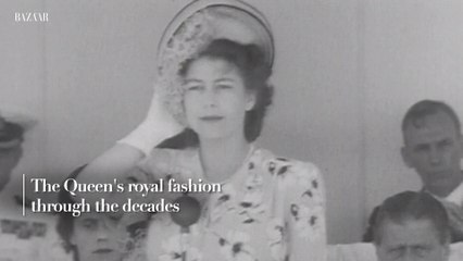 The Queen's royal fashion through the decades