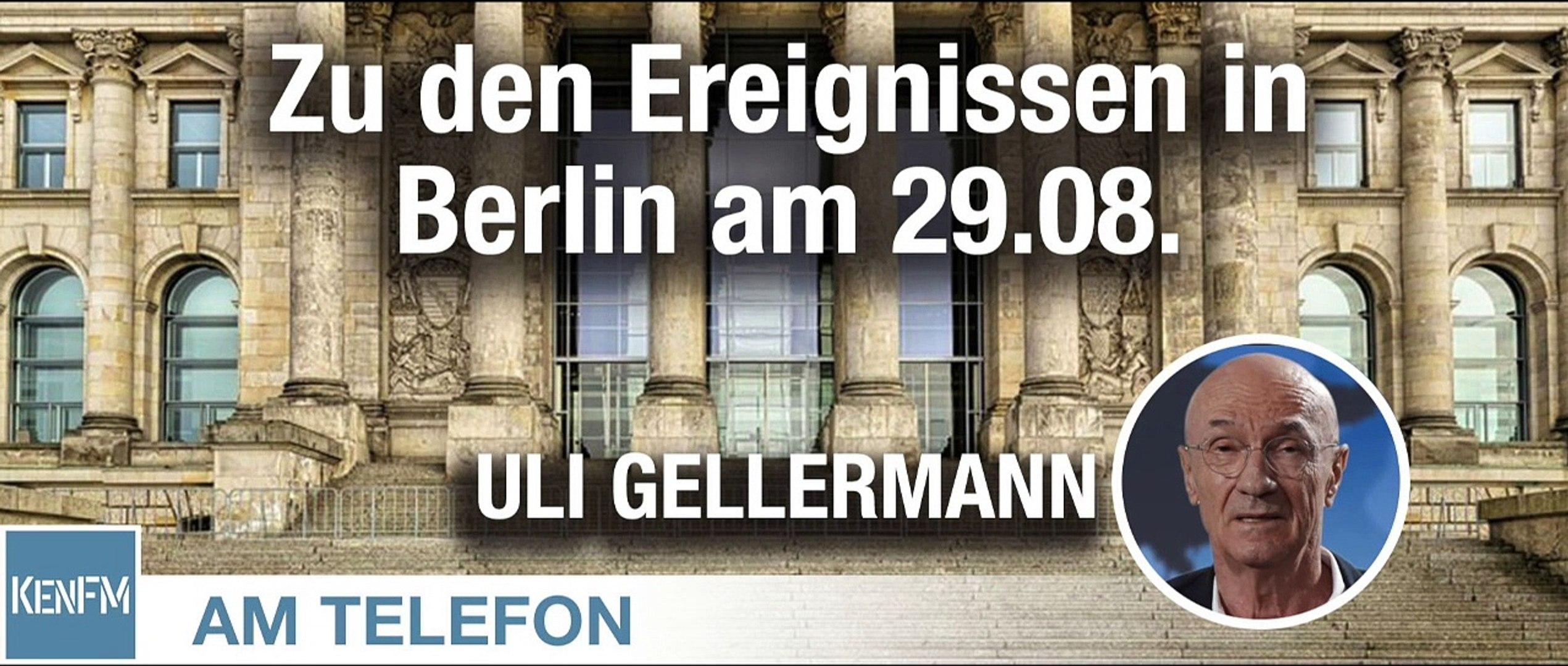 Am Telefon zu den Ereignissen in Berlin am 29.08.: Uli Gellermann