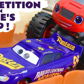 Hot Wheels Blaze Loop Challenge with Disney Pixar Cars 3 Lightning McQueen versus Funny Funlings in this Family Friendly Full Episode English Toy Story for Kids from a Kid Friendly Family Channel