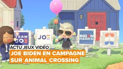 Joe Biden fait campagne dans Animal Crossing