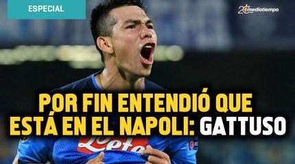 Chucky Lozano por fin entendió que está en el Napoli: Gennaro Gattuso