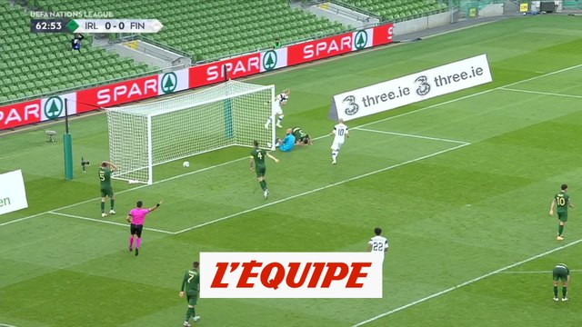 Le but d'Irlande-Finlande - Foot - L. nations