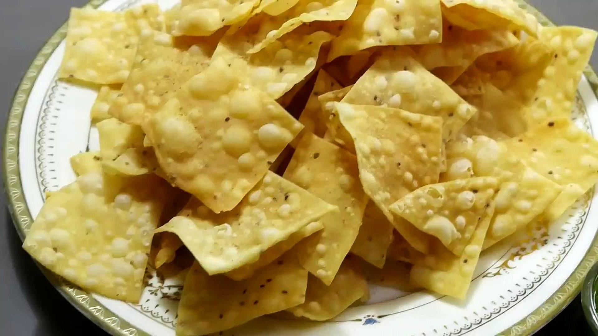 Crispy Chips Namkeen Recipe - Nachos wafers Recipe - Nisha Madhulika - Rajasthani Recipe - Best Reci