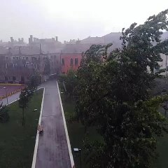 Maltempo, violentissimo temporale con grandine a Venezia