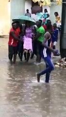 """La vidéo du mariage """"inondé"""" qui fait le buzz, thiey Senegal"""