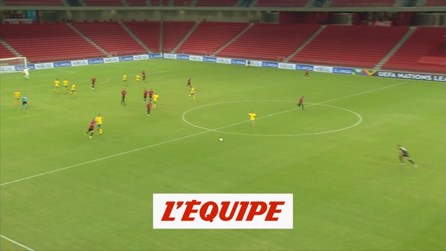 Le but d'Albanie-Lituanie - Foot - Ligue des nations