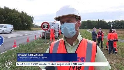 A LA UNE / 292 km de routes repassent à 90 km/h