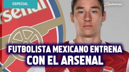 Marcelo Flores, jugador mexicano, entrena con el primer equipo del Arsenal