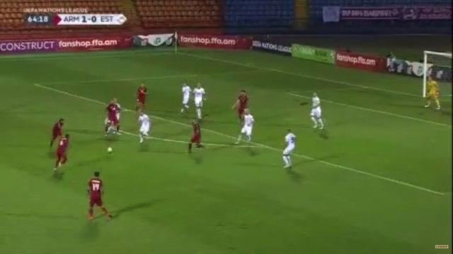 Les buts de Arménie - Estonie - Foot - Ligue des nations