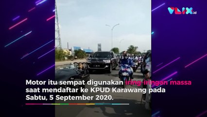 Motor Mewah Bupati Karawang Ditilang Polisi