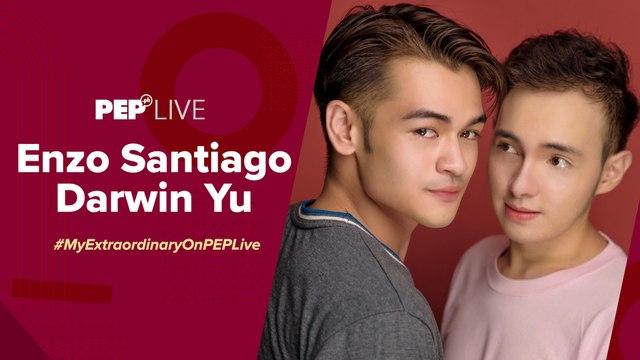 My ExtraOrdinary stars Enzo Santiago & Darwin Yu, hindi worried na may nauna sa kanilang BL series | PEP Live