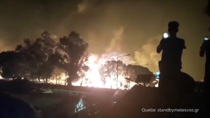Flüchtlingslager Moria in Flammen