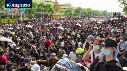 Thailand sees biggest protests since 2014 coup as calls for reform mount – video report