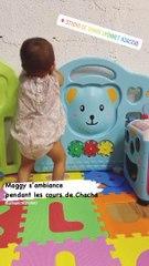 Alizée a partagé cette petite vidéo de sa fille Maggy qui danse sur du chacha, à Ajaccio. Instagram, le 8 septembre 2020.