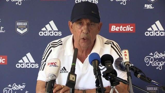 """Mercato : """"Le deal en arrivant à Bordeaux était de faire jouer l'effectif en place"""" explique Gasset"""