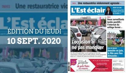 L'Est-Éclair: Sommaire de l'Édition du jeudi 10 septembre 2020
