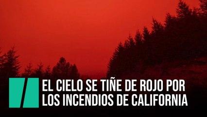El cielo de Oregon se tiñe de rojo por los incendios forestales de California