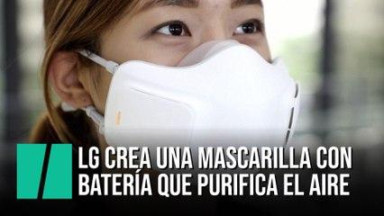 LG crea una mascarilla con batería que purifica el aire