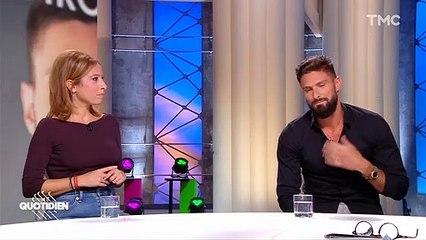 """Olivier Giroud invité de l'émission """"Quotidien"""" pour la promotion de son autobiographie """"Toujours y croire"""" (ed. Plon). Le joueur de Chelsea et de l'équipe de France a évoqué sa fille Jade."""