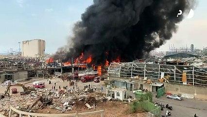 Un gigantesque incendie se déclare dans le port de Beyrouth