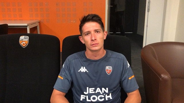 Laurent Abergel, milieu de terrain du FC Lorient