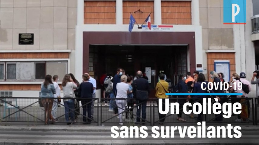 Paris : plus de surveillants pour cause de Covid, les profs du collège Valmy font grève