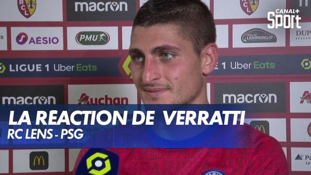 La réaction de Marco Verratti après RC Lens - PSG