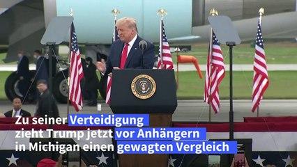 Trump vergleicht sich mit Churchill