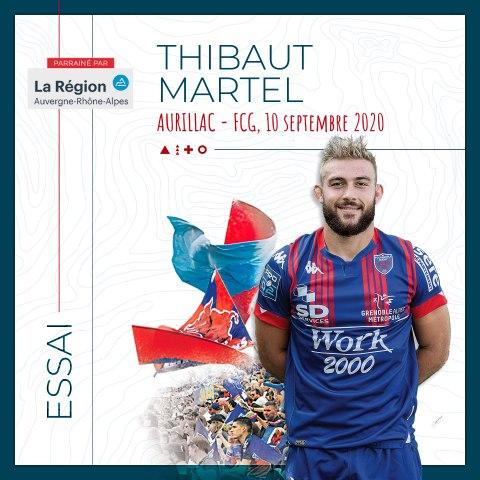 Video : Video - L'essai marqué par Thibaut Martel à Aurillac, saison 2020-2021