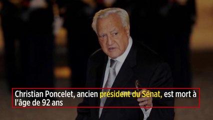 Christian Poncelet, ancien président du Sénat, est mort à l'âge de 92 ans