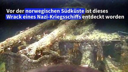 Wrack von Nazi-Kriegsschiff vor norwegischer Küste gefunden
