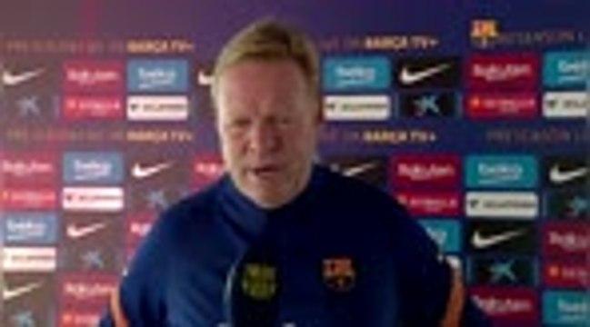 Barcelone - Koeman se réjouit de pouvoir compter sur Messi