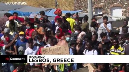 اعتراض مهاجران و ساکنان جزیره لسبوس یونان؛ اردوگاه جدید نسازید