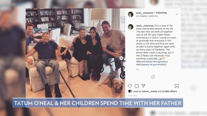 Ryan O'Neal Reunites with Daughter Tatum O'Neal and Grandkids After 'Years of Hardship'