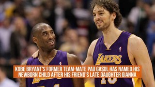 Pau Gasol Honors The Bryant Family