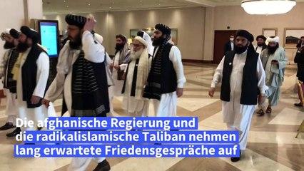 Afghanische Regierung und Taliban nehmen Friedensgespräche auf