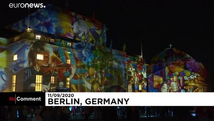 Landmarks and buildings lit up as Berlin's annual Festival of Lights begins