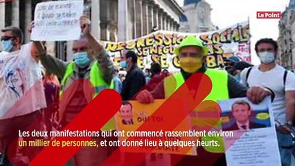 Gilets jaunes : environ un millier de manifestants à Paris, Bigard insulté