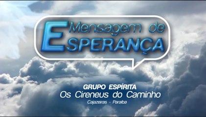 MENSAGEM DE ESPERANÇA - 04.09.2020