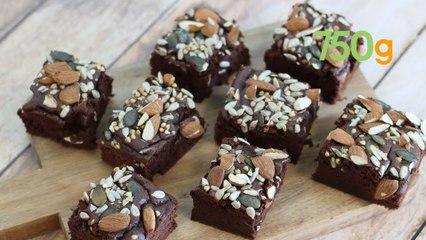 Recette du brownie chocolat et haricots rouges (sans beurre) - 750g