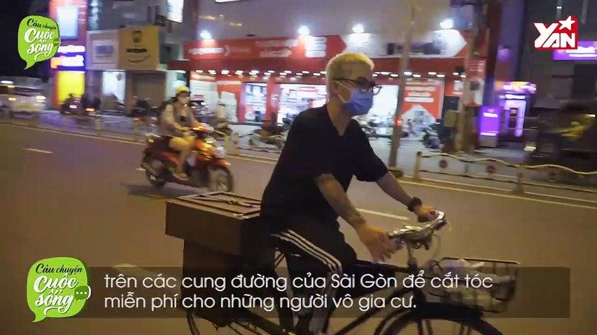 9x đạp xe khắp Sài Gòn cắt tóc cho người nghèo
