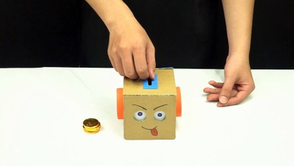 YP STUDIO -  Coin Bank Box from Cardboard - Make Things From Cardboard