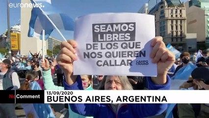 از قرنطینه تا فساد؛ معترضان در پایتخت آرژانتین به خیابان آمدند