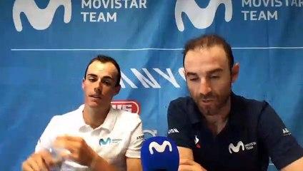 Enric Mas y Alejandro Valverde (Movistar Team) hacen balance del Tour de Francia