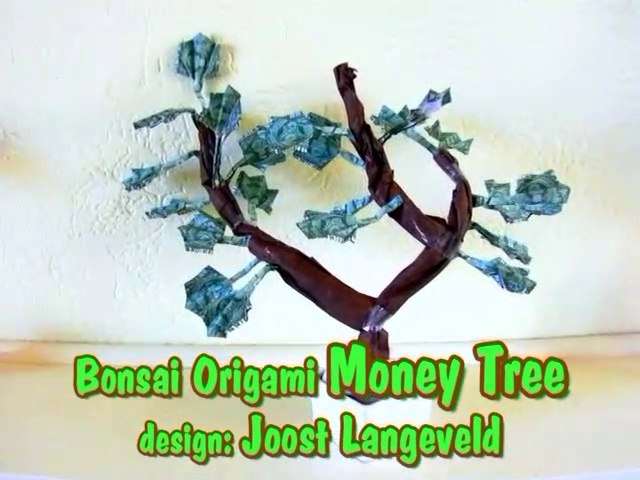 Bonsai Origami Money Tree