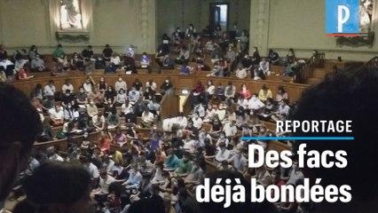 Amphis bondés à la fac : à la Sorbonne, des étudiants déjà inquiets